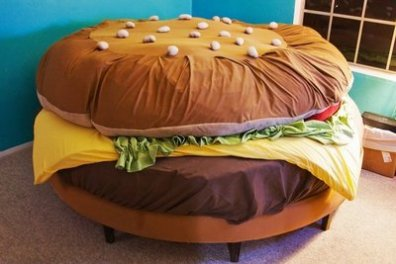 Burger Bed. Seems they have clothes, beds and all kinds of ...