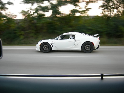 Stormtrooper driving a Lotus