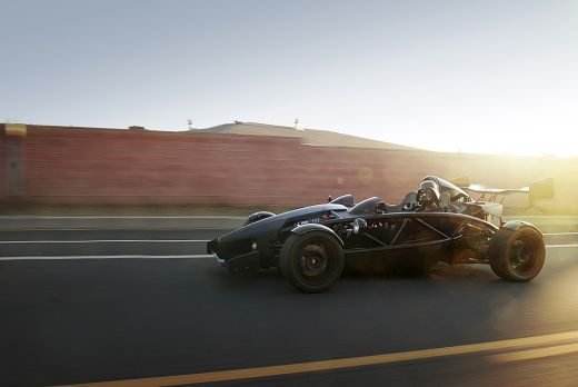 Darth Vader in an Ariel Atom